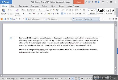 WPS Office - Screenshot 1