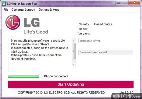 LG Support Tool - Screenshot 5