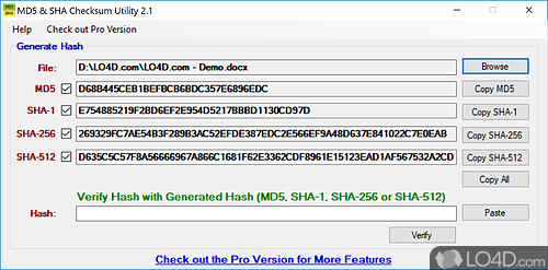 MD5 & SHA Checksum Utility - Download
