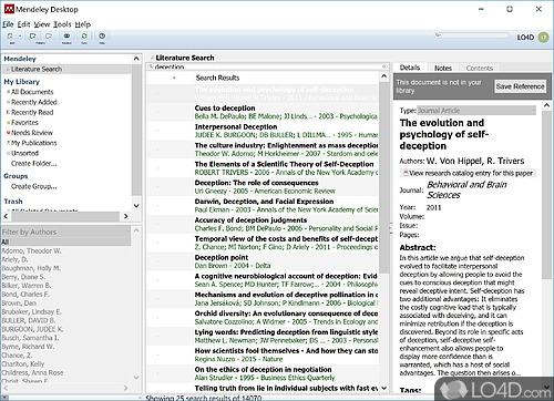 Mendeley Desktop - Screenshot 1