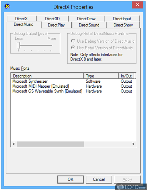 DirectX Control Panel - Screenshots