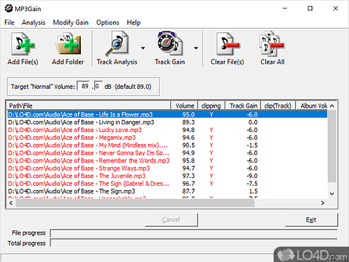 MP3Gain - Screenshot 1