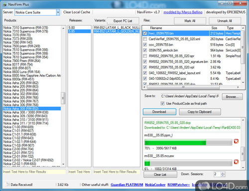 NaviFirm Plus - Screenshot 2