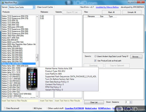 NaviFirm Plus - Screenshot 1