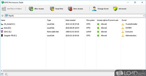 NTFS Permissions Tools - Screenshot 1