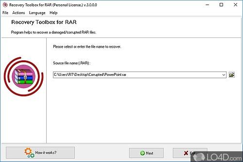 RAR Recovery Toolbox - Screenshot 1