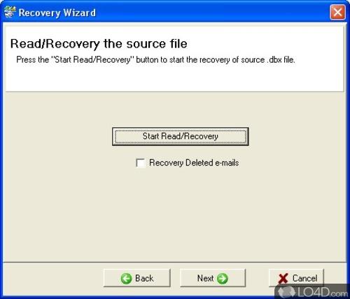 Recovery ToolBox for Outlook Express. Нажмите для увеличения.