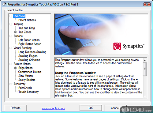 Synaptics Pointing Device Driver - Screenshot 1
