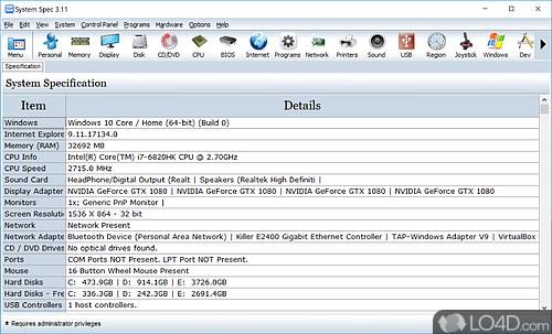 System Spec - Download