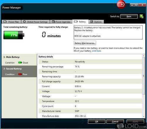 Thinkvantage Power Manager for Windows 7