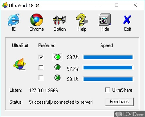 UltraSurf - Screenshot 1