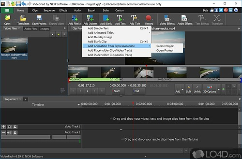 VideoPad Video Editor Free - Screenshot 3