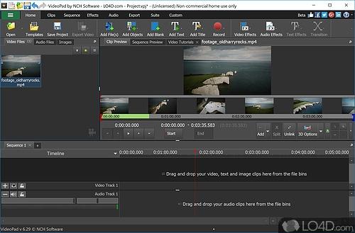 VideoPad Video Editor Free - Screenshot 1
