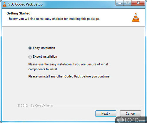 how to use xvid codec with vlc