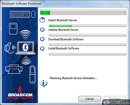 WIDCOMM Bluetooth Software - Screenshot 1
