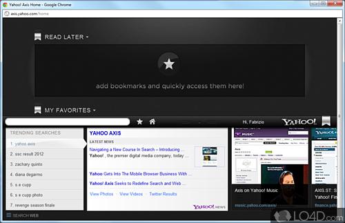 Yahoo! Axis - Screenshot 1
