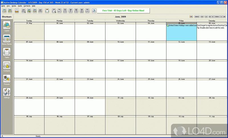 Active Desktop Calendar - Download