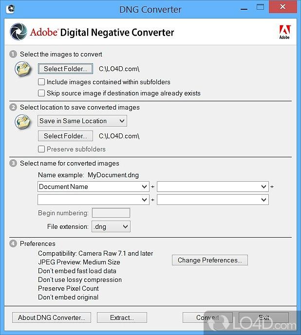 Adobe DNG Converter - 1