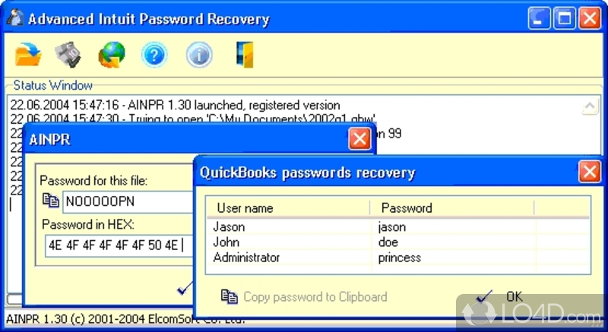Advanced Intuit Password Recovery. Источник. Полностью восстановите или у