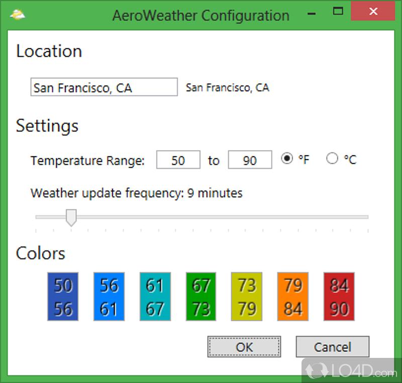 Aeroweather widget not updating