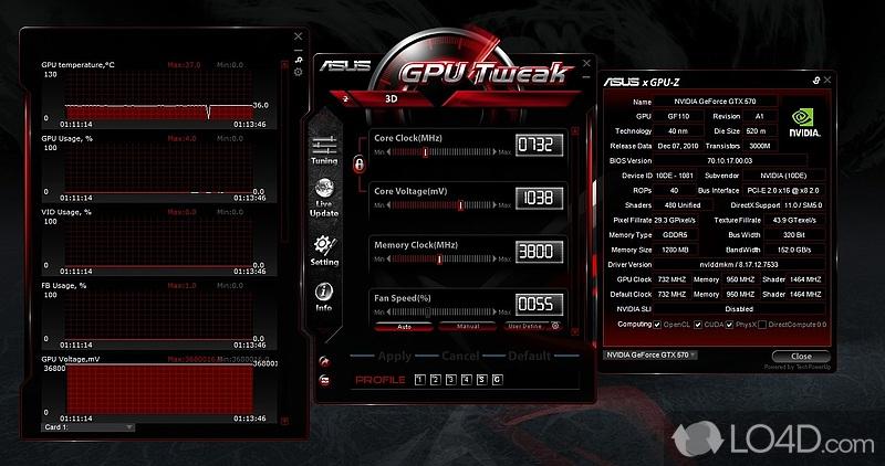 ASUS GPU Tweak - Screenshot 1