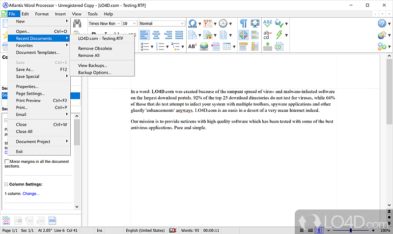 Is free word processor software compatible with Word?