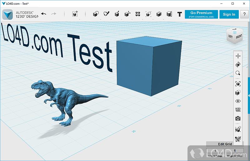 Autodesk 123D Design   Screenshot 1. Autodesk 123D Design   Download