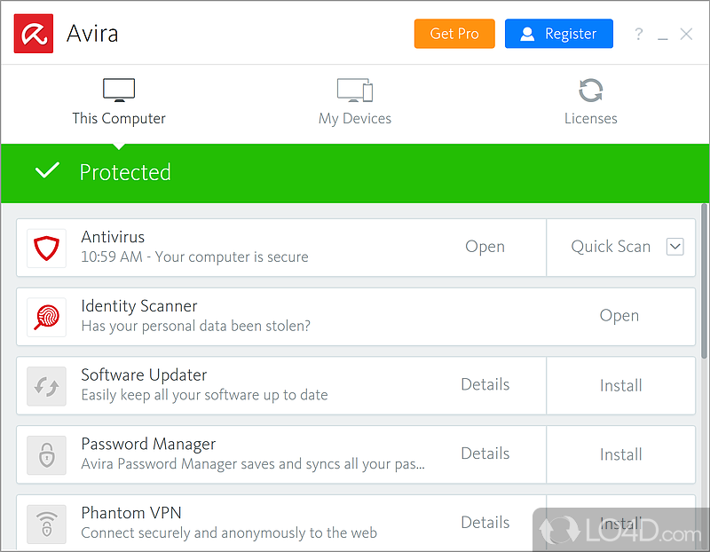free antivirus for window vista software