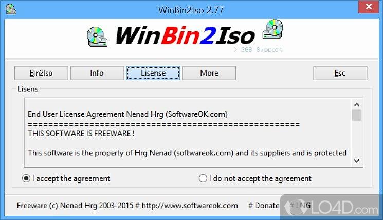 WinBin2Iso - 3