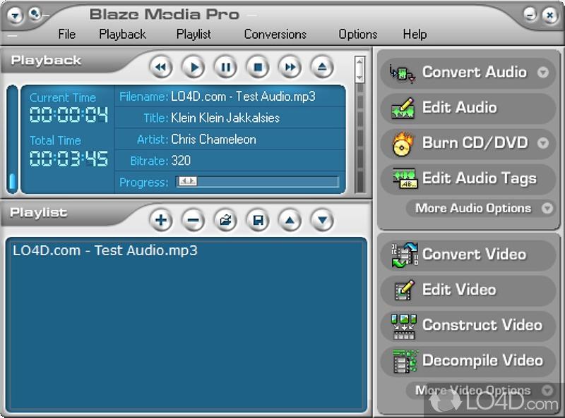 Blaze Media Pro - это качественная мультимедийная варез программа