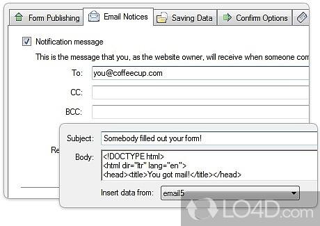 coffeecup web form builder 8.2