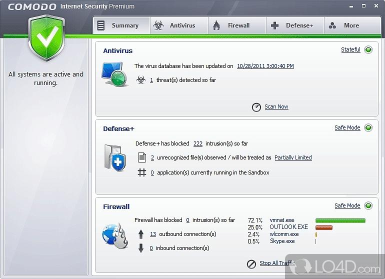 Comodo Internet Security Pro - Screenshot #1