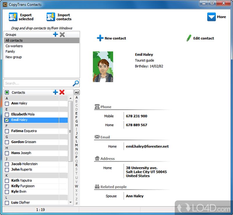Copytrans contacts скачать бесплатно c ключом