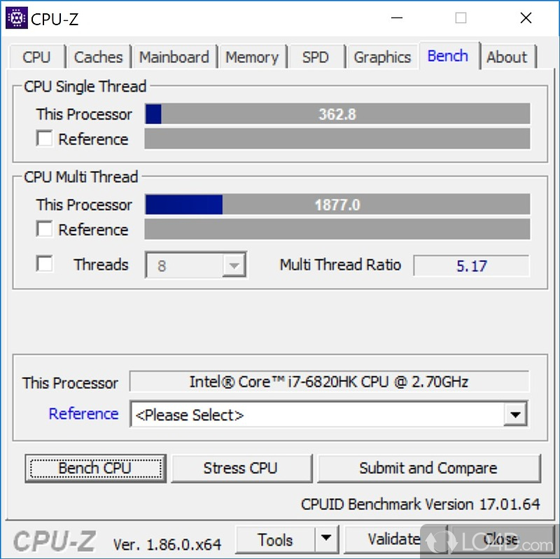 CPU-Z - Screenshot #6: cpu-z.en.lo4d.com/screenshots