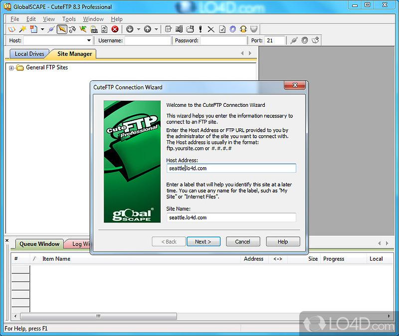 CuteFTP Screenshot.