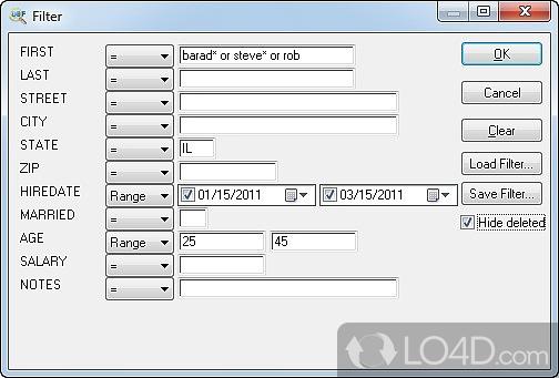 Dialog Filter Xml Editor
