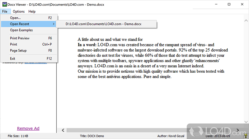 Docx viewer download - How to open docx files without office ...