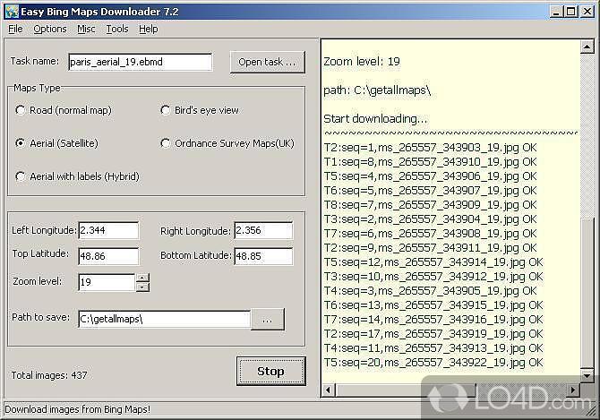 easy bing maps downloader screenshot 1