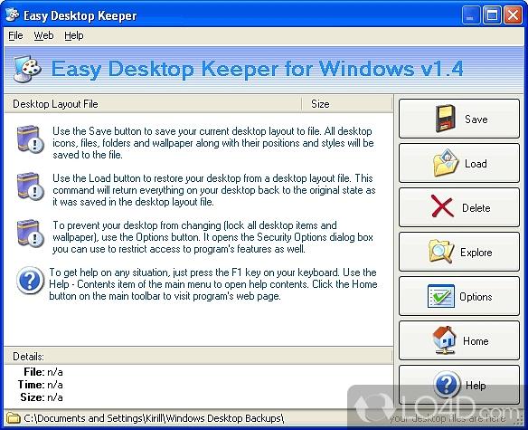 Easy Desktop Keeper - 1