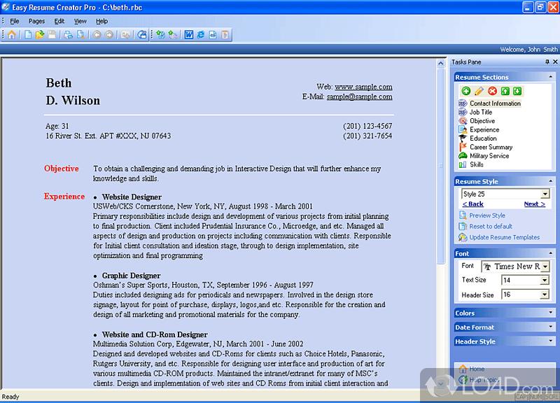 Easy Resume Creator Pro Download