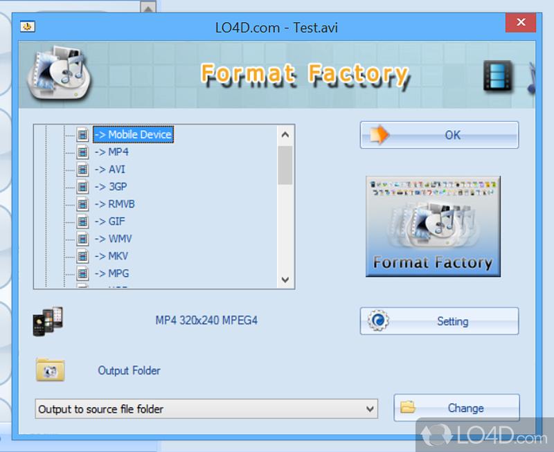 Конвертер форматов format factory скачать бесплатно