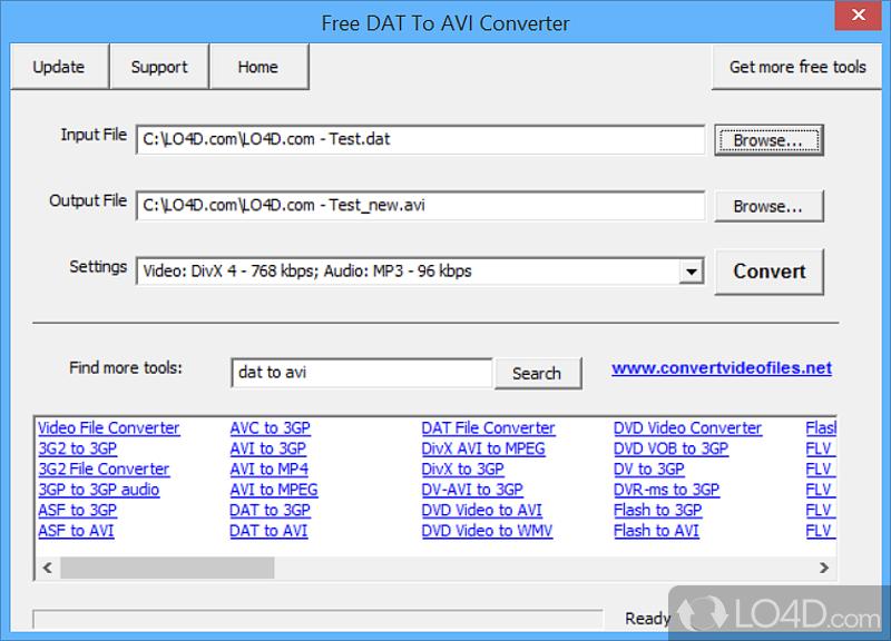 dat to avi converter free software download
