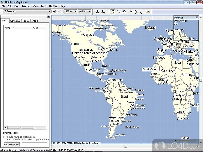 Garmin Mapsource Screenshot 3
