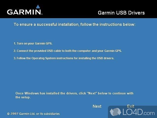 Garmin Usb Drivers Screenshot