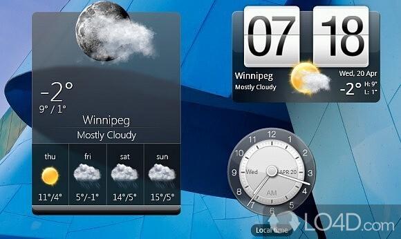 Htc home brings htc's weather widget to your windows desktop.