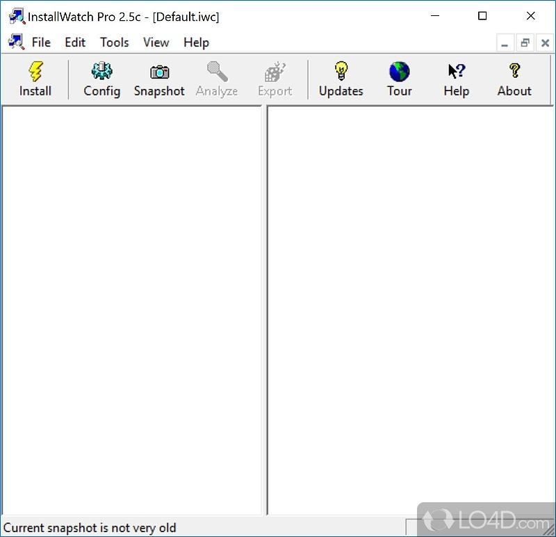 Screenshots of InstallWatch Pro (1)