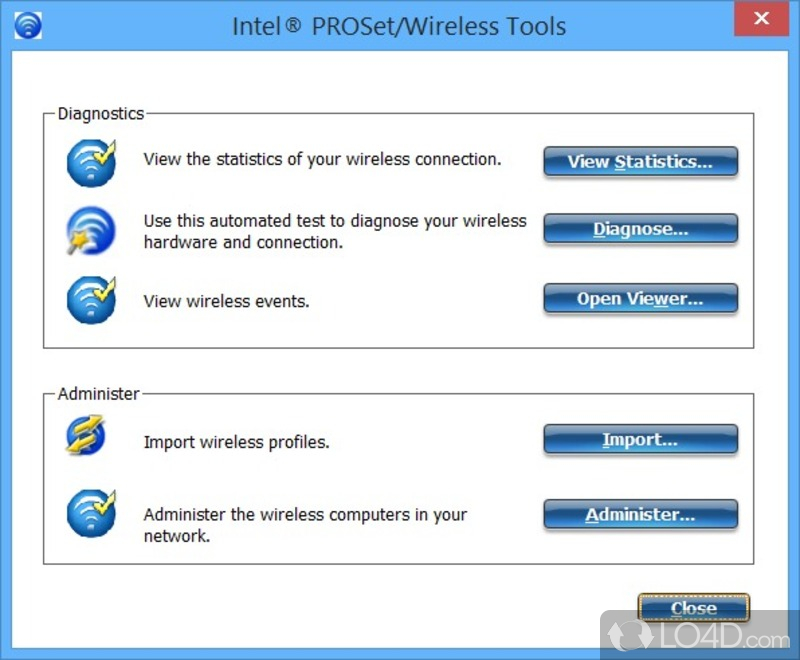 Export or import profiles with intel proset/wireless 11. X on.