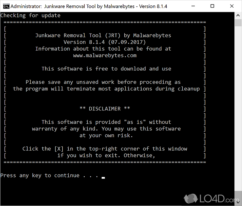 Junkware Removal Tool - Download