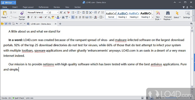 kingsoft writer screenshot 1