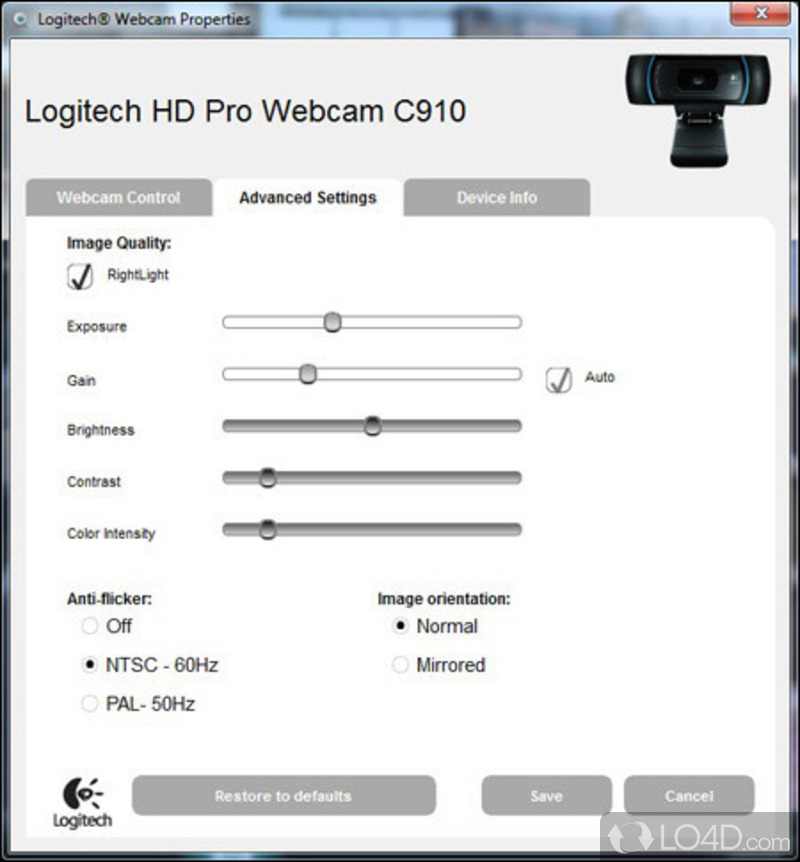 logitech webcam software update